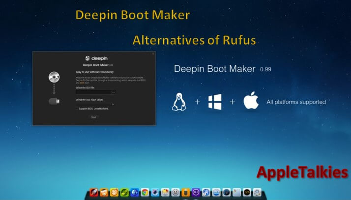 If you are searching for Rufus alternative then use Deepin