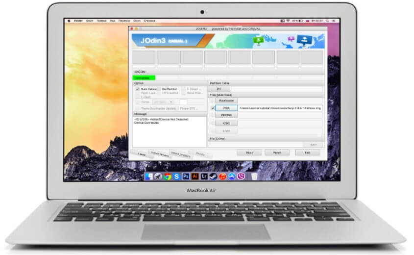 Odin for Mac Appearance on Macbook