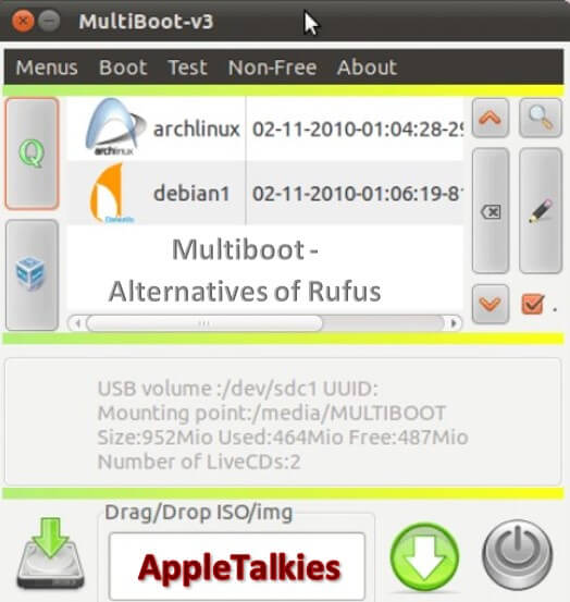 Multiboot USB is a wonderful alternative for Rufus