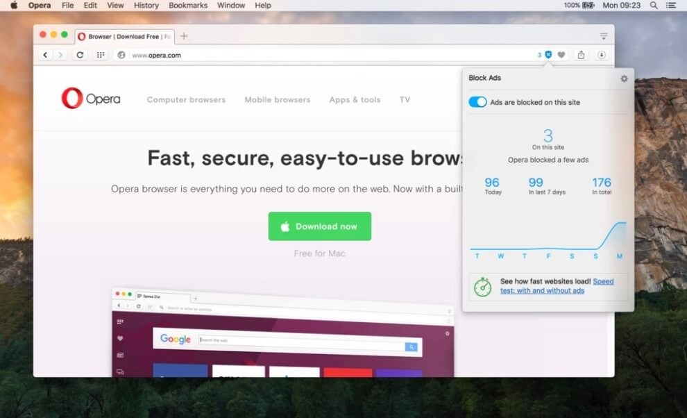 Opera browser holds 3rd spot in the list of best web browser for mac