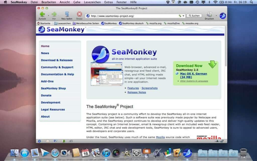 SeaMonkey web browser for mac is at 8th Spot in our list of Best Browser for Mac