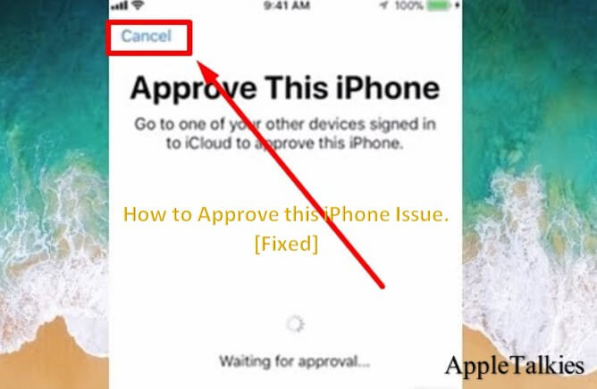 Cancel the warning of approve iPhone