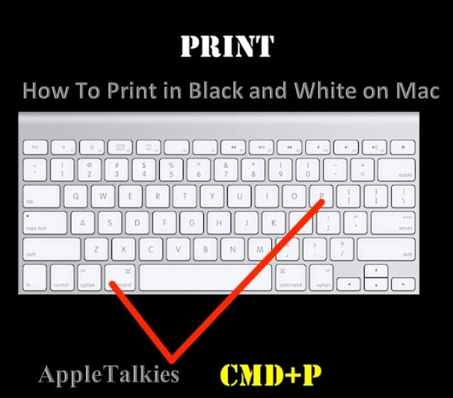 Command and P this is the combination guide, how to print in black and white on mac