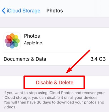 Delete the app from iCloud