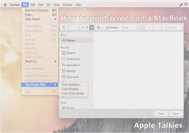 print screen on a mac