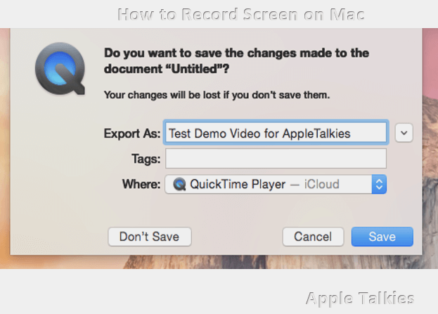 Save the Screen Recording File
