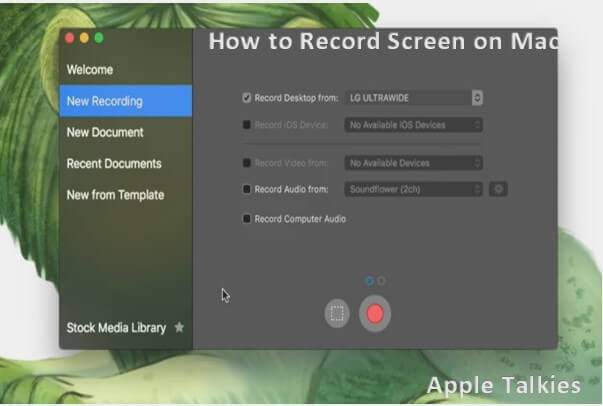 you can capture screen on mac using screenflow